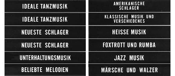 Klassifikationsstreifen, schwarz, deutsch