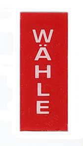 "Credit window ""Wähle"""