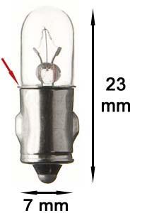 Ba7s Lampe 60V/1,2W