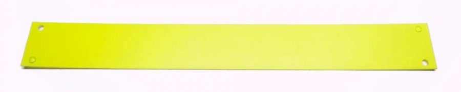 Plastic light diffuser, yellow