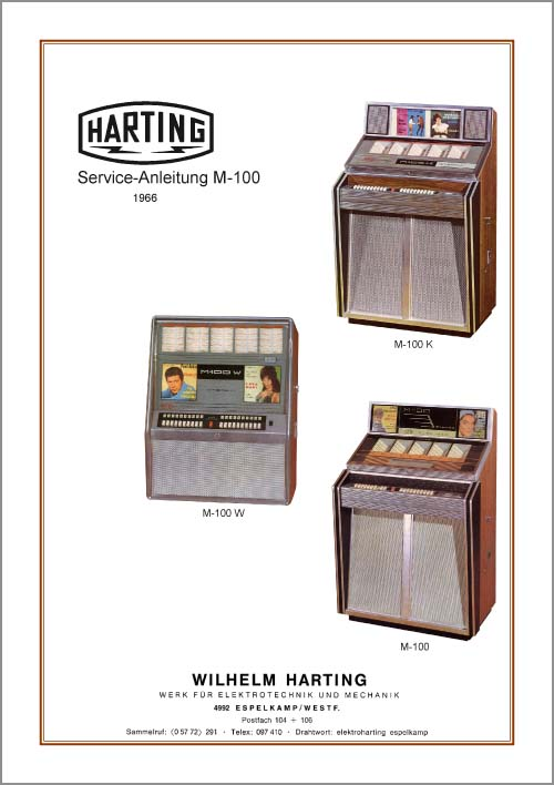 Service Anleitung Harting M100, M100K, M100W