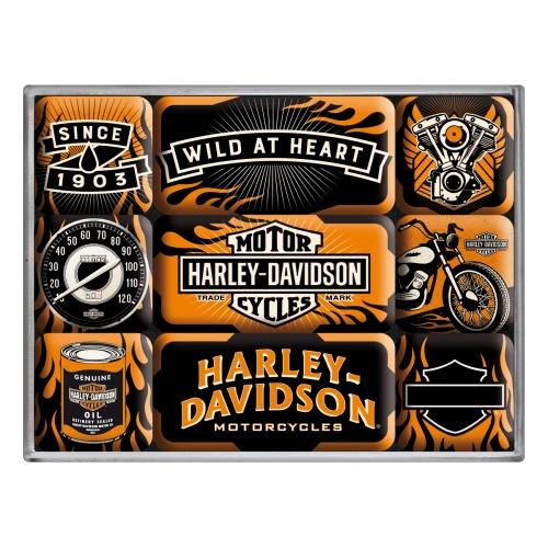 """Magnet-Set """"Harley Davidson"""""""