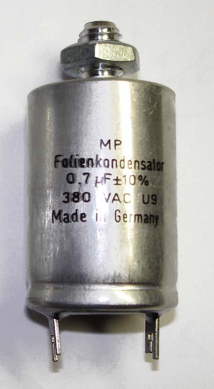 Motor run capacitor 0,7 µF
