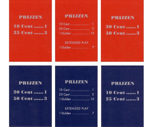 Pricing card, Dutch