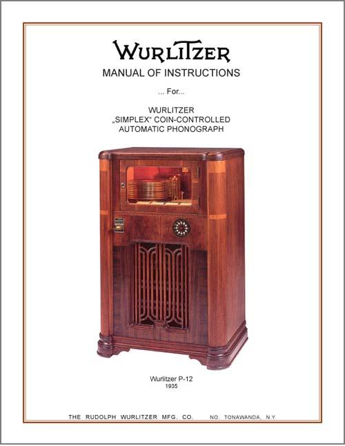 Service Manual Wurlitzer P-12