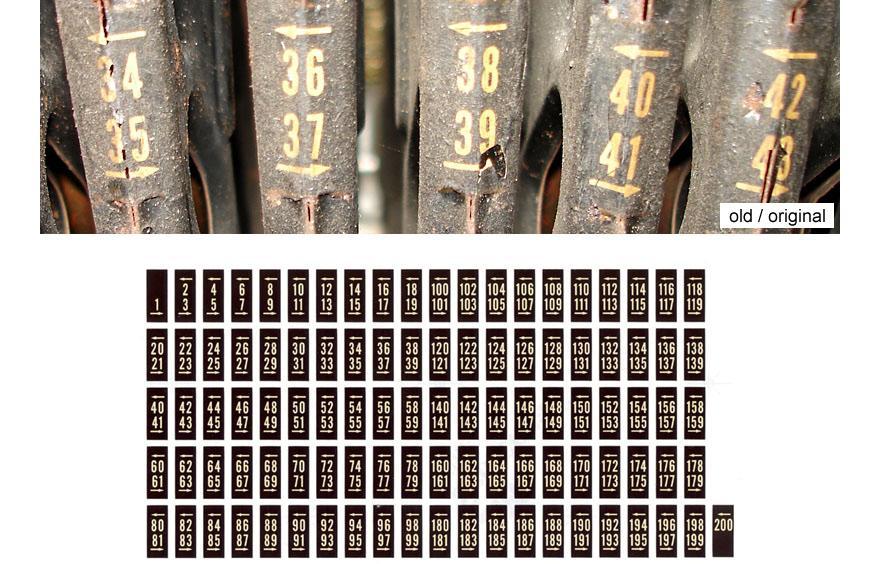 Aufkleber Plattenmagazin 1455