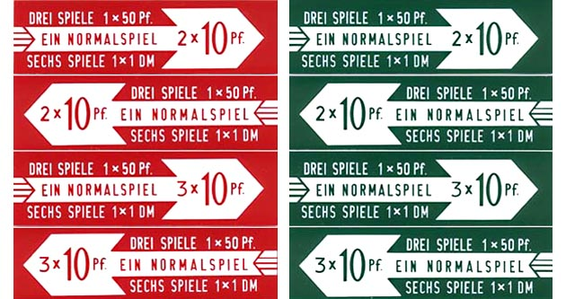 Drum roll pricing inserts, German