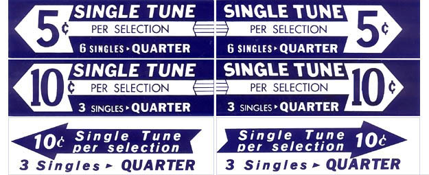 Drum roll pricing inserts, blue, US