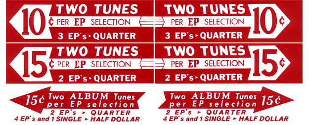 Drum roll pricing inserts, red, US