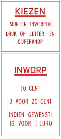 Preis- u. Instruktionsgläser, NL - EUR