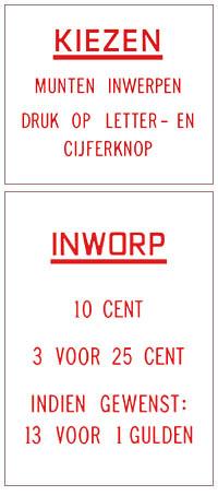 Preis- u. Instruktionsgläser, NL