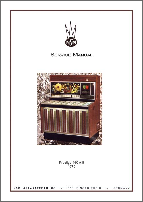 Service Manual Prestige 160/160A II