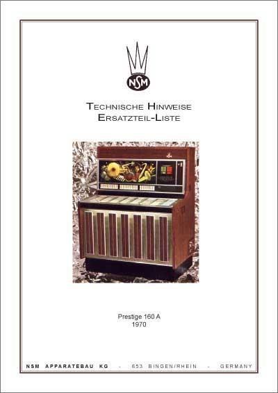 Technische Hinweise Prestige 160A