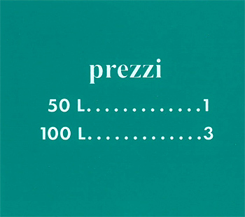 "Pricing card ""prezzi"", turquoise"