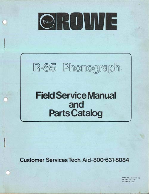 Service Manual Rowe/AMI R-85