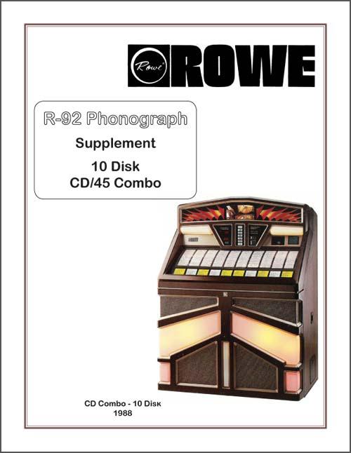 Supplement Rowe R-92 10 Disk/Vinyl