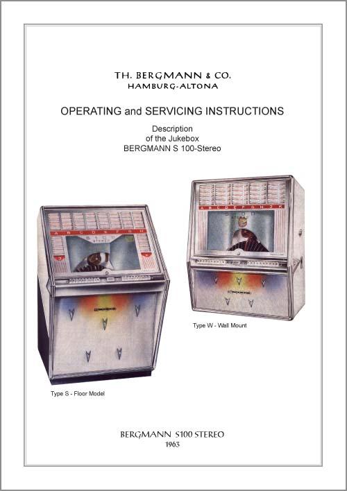Service Manual Bergmann S100, englisch