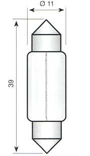 Soffitte S8,5 -  24V/5W