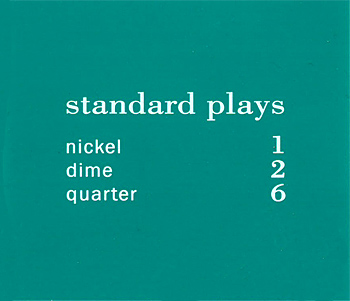 "Preisschild ""standard plays"", türkis"