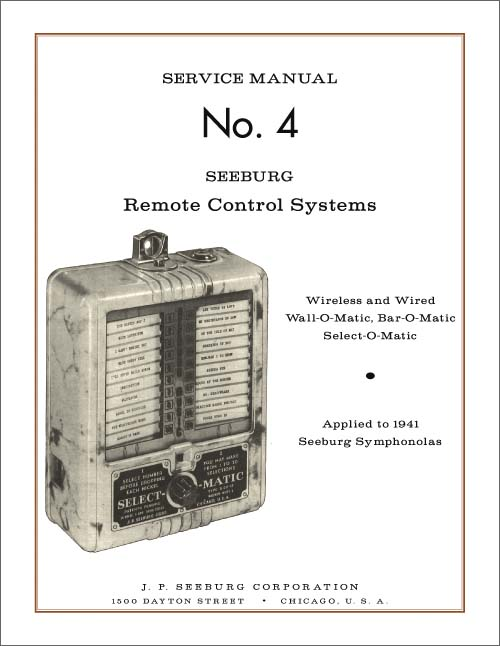 Service Manual No. 4 Seeburg Remote Control Systems