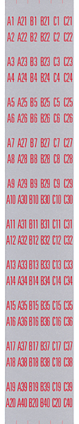 Decal set for title strip holder