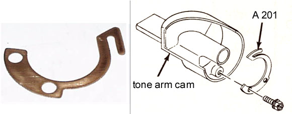 tone arm cam keeper spring