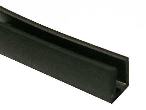 Gummi-U-Profil 3 x 6 x 6 - schwarz