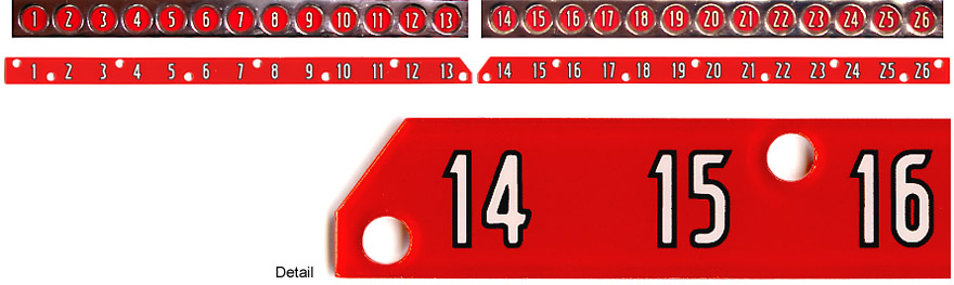 Selection number strips 1-13, 14-26