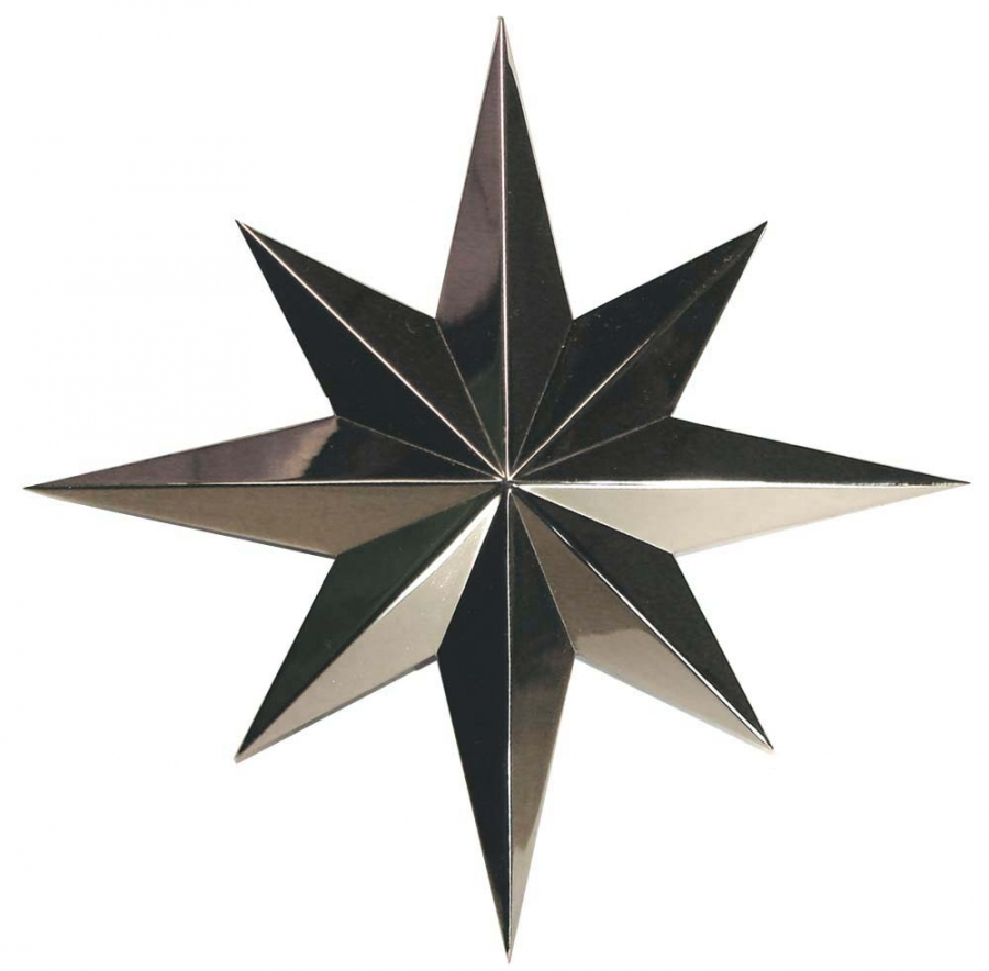 Star ornament, nickel plated