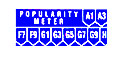Pop. meter letter and number strip, blue