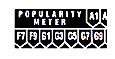 Pop. meter letter and number strip, black