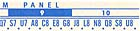 Popularity meter letter and number strip 160, blue