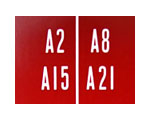 Decal set for double title strip holder 1700