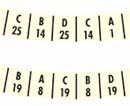 Decals for record indicator rings 2504