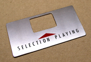 "steel plate ""SELECTION PLAYING"""