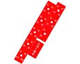Selection number strips, red