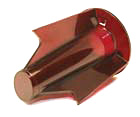 Insert for grill ornament, red