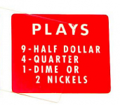"Instruction plastic ""PLAYS"" for 2600"