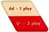 "Instruktionsschild ""6d - 1 play"""