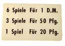 "Instruction plastic ""6 Spiele ..."", German"