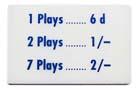 """Preisschild """"6 Spiele"""", GB"""