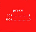"Pricing card ""prezzi"", orange"