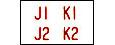 Programmglas J1-K0