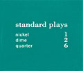 "Pricing card ""standard plays"", turquoise"