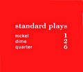 "Pricing card ""standard plays"", orange"