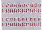 Decal set for title strip holder, 1495/1497