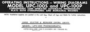 Operating Instructions UPC-100S & UPC-100P