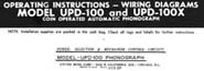 Operating Instructions UPD-100 & UPD-100X