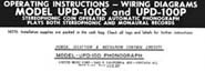Operating Instructions UPD-100S & UPD-100P