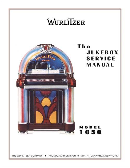 WURLITZER 1050 SONATA TITLE HOLDER INSTRUCTION CARD SET